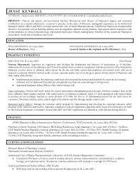 Pharmacist Resume Sample Pharmacy Examples Curriculum Vitae
