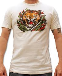 Jungle Lion Vintage Reproduction T Shirt For Men By Atomic Swag