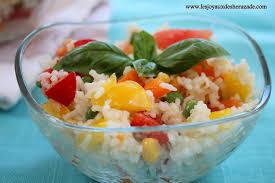 cuisine salade de riz salade de riz aux légumes les joyaux de sherazade
