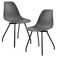 en casa 2x design stühle retro esszimmer dunkelgrau stuhl
