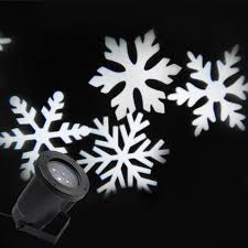 Zjright Outdoor Holiday Light Led Snowflake Projector White Red
