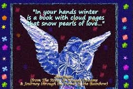 In Your Hands Winter Is A Book With Cloud Pages That Snow Pearls Of Love