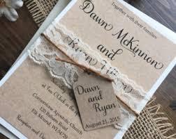 Rustic Wedding Invitation Vintage Lace Invitations Barn