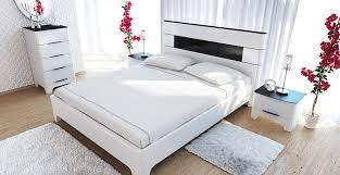 schlafzimmer set verona 4 teilig schwarz weiß hochglanz mdf