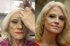 Sir Patrick Stewart In Drag Is A Dead Ringer For Donald Trump S Advisor Kellyanne Conway 50 And He Didnt Even Know Who She Was When