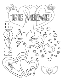 Lovely Free Valentines Day Coloring Pages 67 With Additional Books