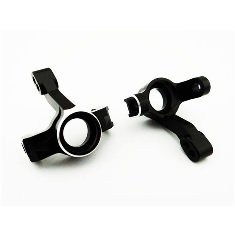 Hot Racing RC Vehicle Steering Knuckles - Black Aluminum, for LaTrax Rally Teton