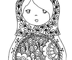 Russian Doll Coloring Page Website Is In French