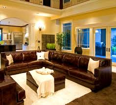 living room decor with brown sectional modern house