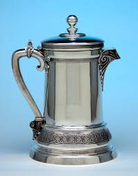 Tiffany Co Antique Sterling Silver Covered Pitcher By Edward C Moore New York 1865