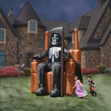 Large Blow Up Halloween Decorations by The Inflatable On Call Grim Reaper Hammacher Schlemmer