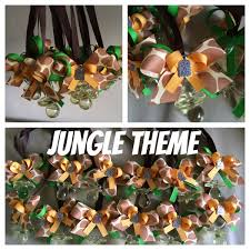 Jungle Theme Baby Shower Necklaces Party Favors Match Really Well