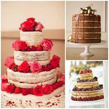 No Icing Wedding Cake Photo