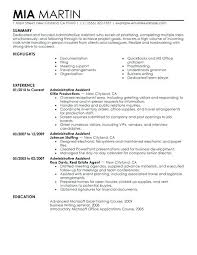 Executive Assistant Resume Objectives Examples Senior Objective