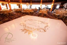 Custom Seamless White And Gold Dance Floor Hotel