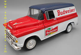 100 1957 Chevy Panel Truck Budweiser Delivery Bank Die Cast Beer S