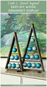 Crate Barrel Ornament Stand Knock Off Easy DIY A Frame Wood Modern Holiday DecorHoliday IdeasTraditional Christmas