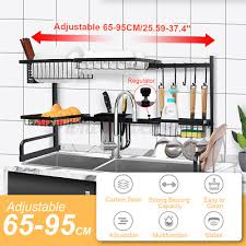 65 95cm verstellbar spüle abtropfgestell küche regal