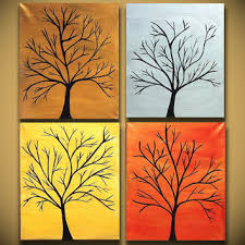 Four Canvas Painting Ideas Large Abstract Paintings Heavy Textured From Oritart On Etsy