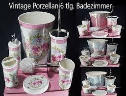 vintage porzellan 6 tlg badezimmer set bad accessoire set wc set neu ebay