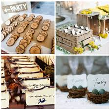 Rustic Wedding Escort Cards