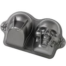 3D SKULL Non Stick Novelty Cake Tin Pan