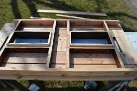 make your own patio table with built in ice boxes homes and hues