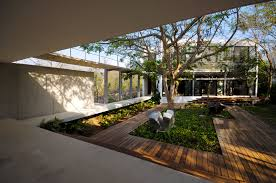 Modern Courtyard Design Garden Ideas Home Inspiration Studio Mm ... Courtyard House Plans Home Shaped Residence In U Designs With In Ahmedabad India Bold And Modern Ushaped Designed Around Trees Design Spanish Style Courtyards Hacienda A Sleek With Indian Sensibilities An Interior Unique The Hiren Patel Architects Archdaily Download Traditional Home Plan Small Floor Central Serene Pond