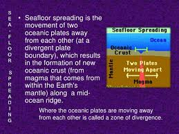 Evidence For Seafloor Spreading Comes From by Sea Floor Spreading
