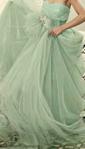 Karen Caldwell Tulle Strapless Ball Gown Perfect Mint Color For My Wedding