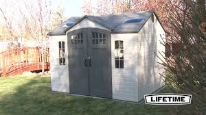 lifetime 10x8 side entry shed w floor 60095 youtube