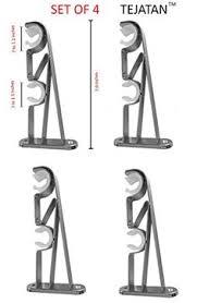 rod desyne 2 pk double curtain rod brackets grey double