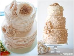 Ruffled Wedding Cakes Ombre Ivory