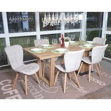 6x esszimmerstuhl mcw a87 stuhl küchenstuhl retro 50er jahre design textil creme