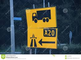 100 Signs For Trucks Extra Direction In Yellow New Road Because