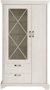 roller vitrine pinie weiß 113 cm breit de küche