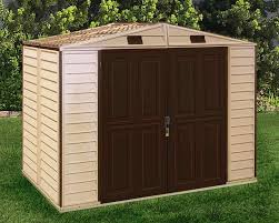 Arrow 8x6 Storage Shed by Duramax 8x6 Storeall Vinyl Shed With Foundation 30115 Free