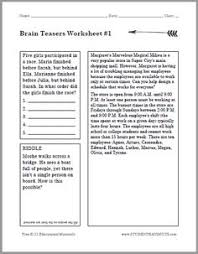 Halloween Brain Teasers Worksheets by Free Brain Teasers For All Ages Easy Brain Teasers Brain