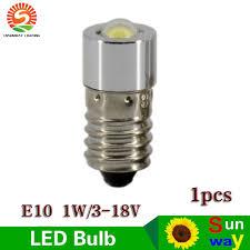 cnsunway led bulb e10 torch light bulb l 1w 3 18v bright