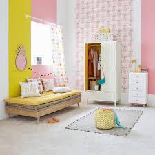 chambre maison du monde lit banquette cm en bois naturel sixties collection avec maison du