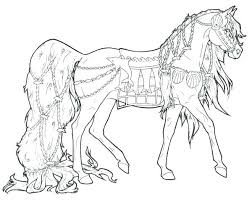 Color Horses Realistic Horse Pages For Adults Of Coloring
