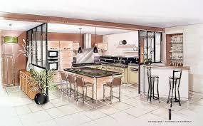 cuisine ouverte sur salle a manger réalisation d une cuisine entrée salle à manger nieuil l espoir
