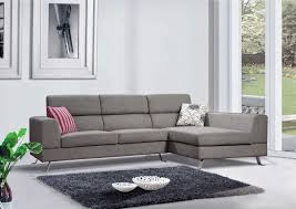 Gray Sectional Living Room Ideas by Stylish L Shaped Grey Sectional Couch With Sloping Metal Base For