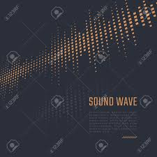 Equalizer Background Music Poster Sound Wave Stock Vector