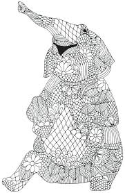 Abstract Elephant Coloring Pages For Adults Mandala National Geographic