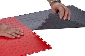 6 5 mm coin flex tiles interlocking pvc garage tiles
