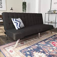 100 Modern Sofa Design Pictures DHP Emily Futon Couch Bed Includes Sturdy Chrome Legs And Rich Linen Upholstery Grey