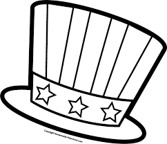 July Fourth Hat Coloring Page For Preschool
