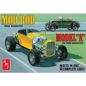 AMT 1929 Ford Model A Roadster Car Plastic Model Kit - 1/25 Scale