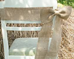 Burlap Chair Sash Rustic Wedding Decorations